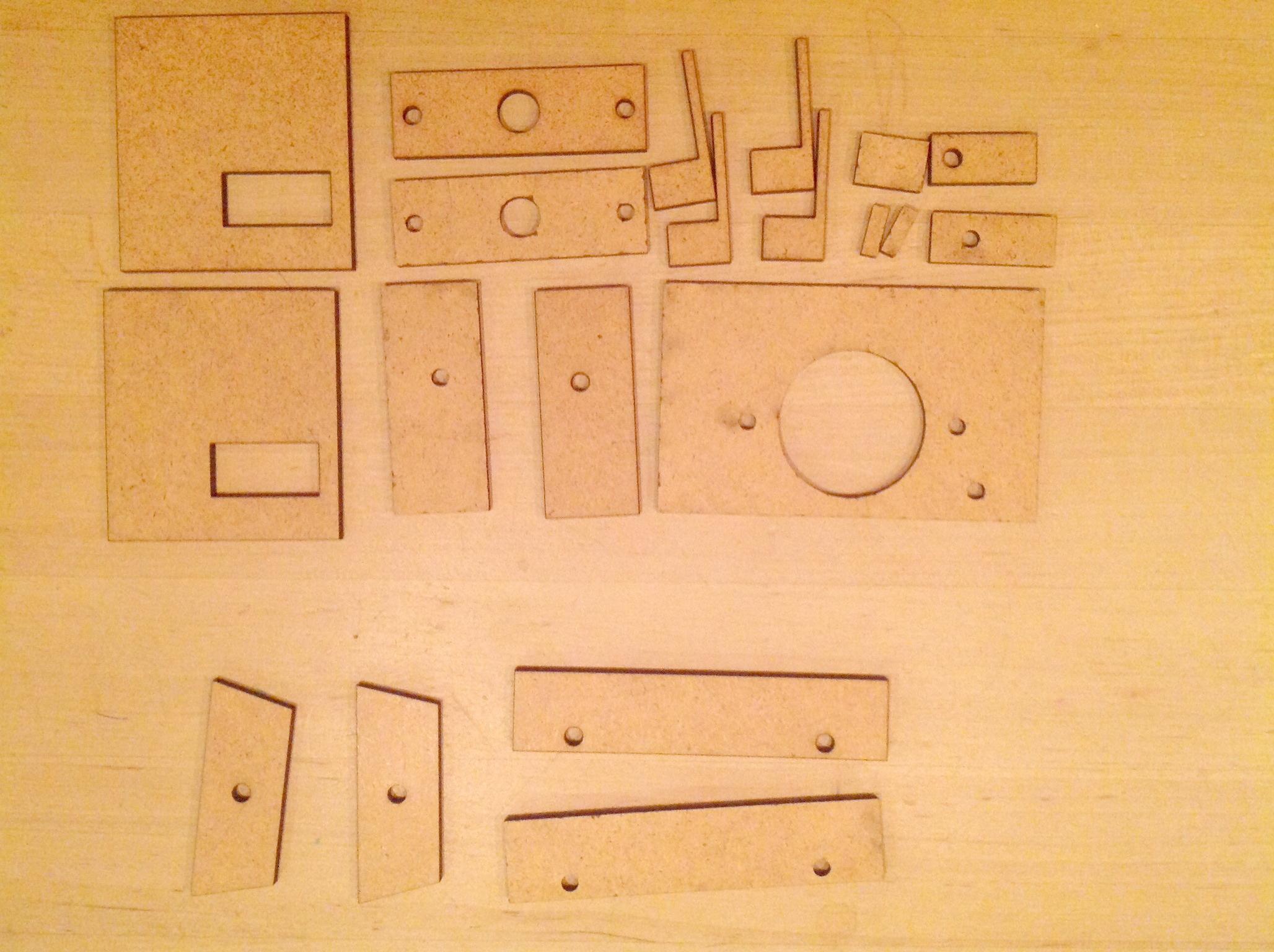 Lasercut pieces
