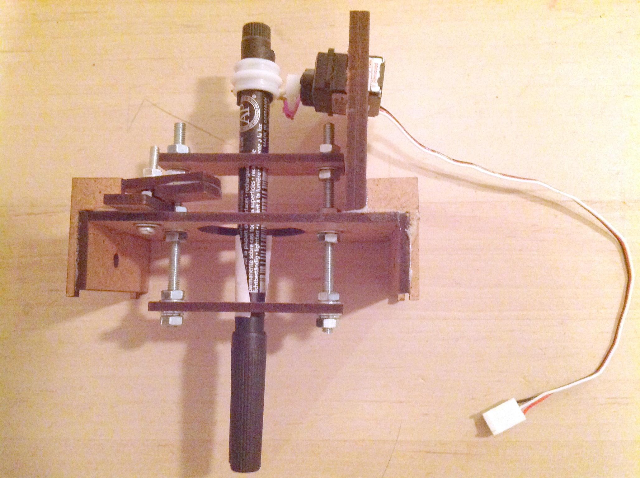 Pen holder assembled