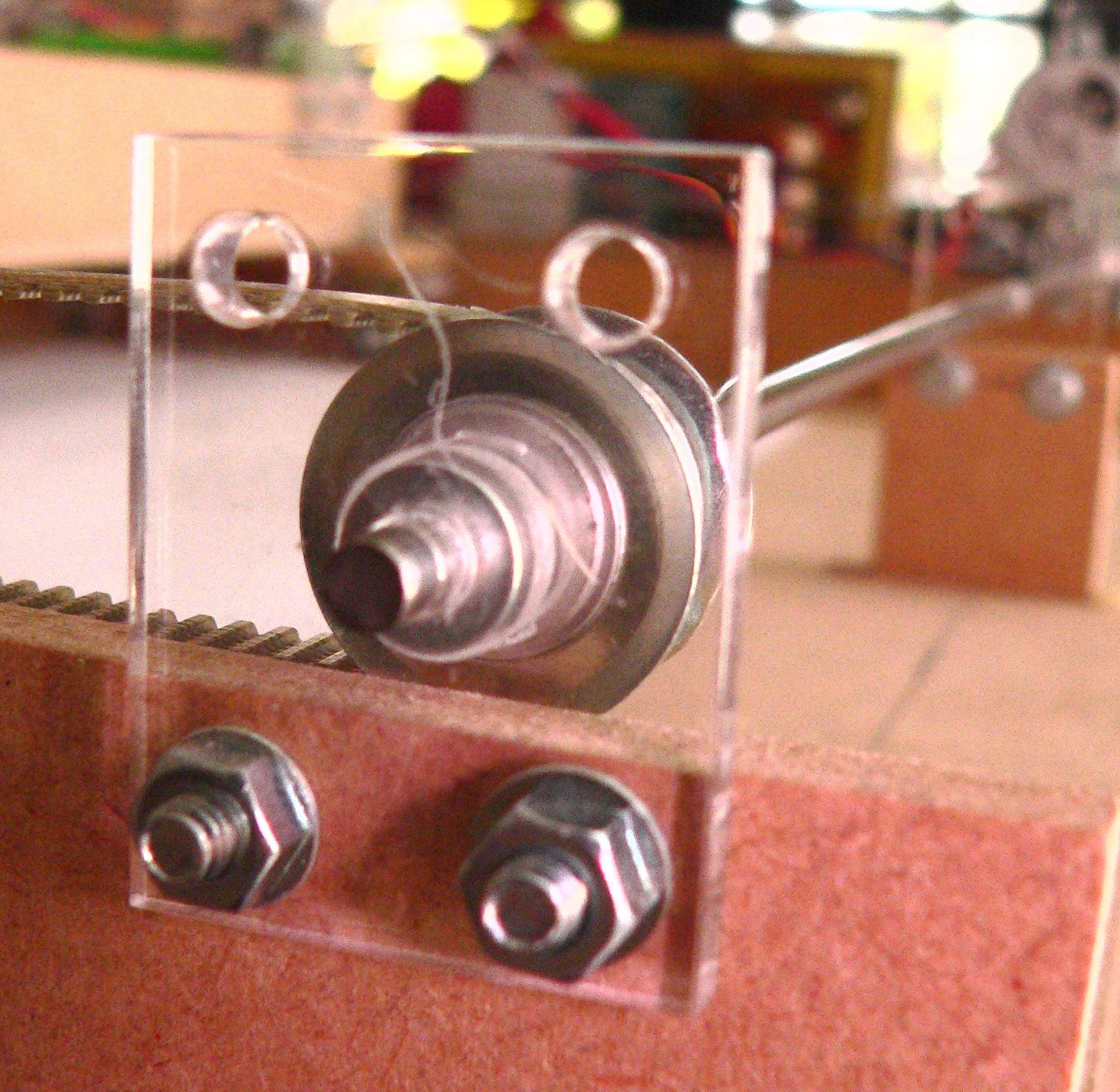 Axle bearing close-up