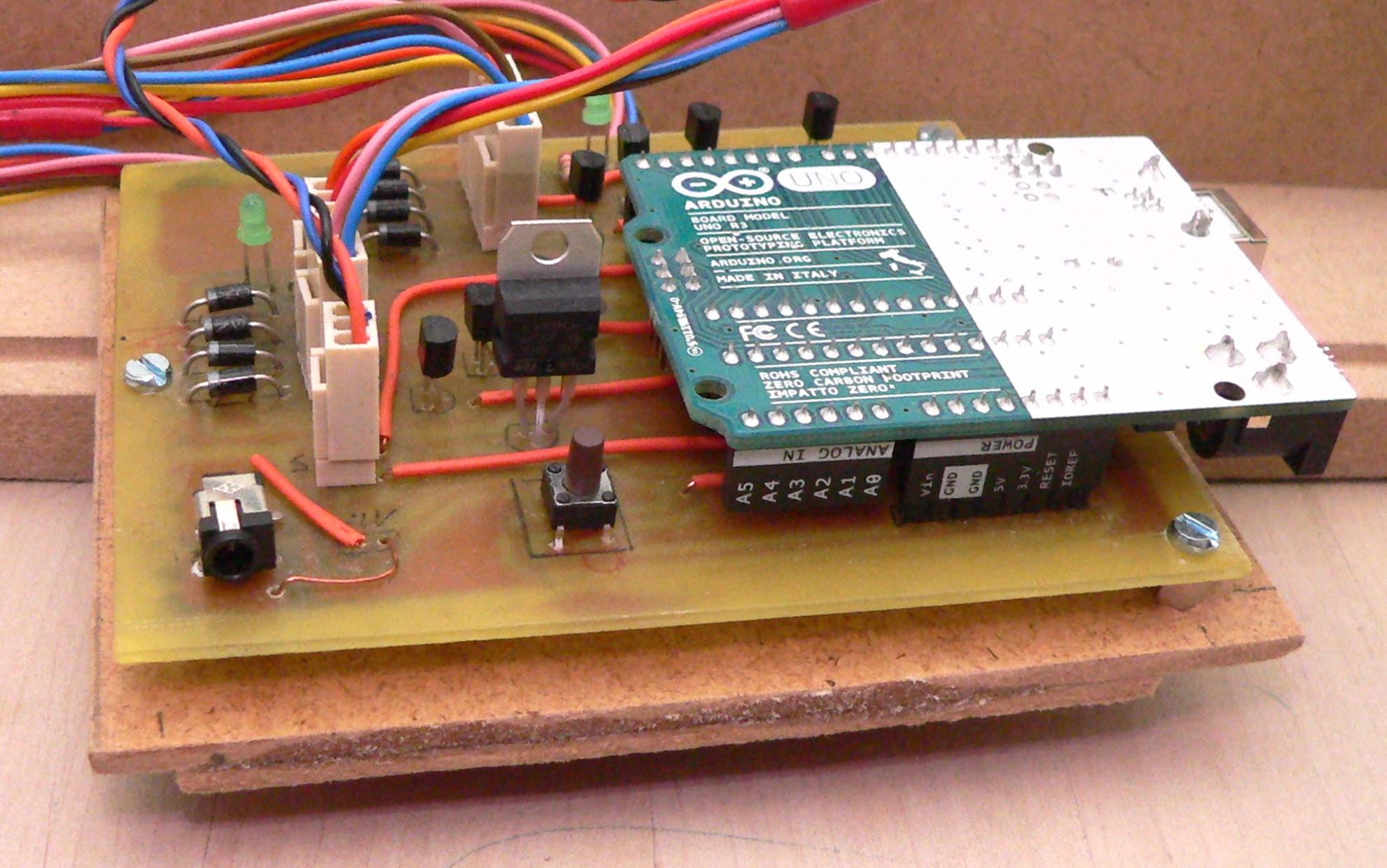 Electronics: motor controller shield + arduino